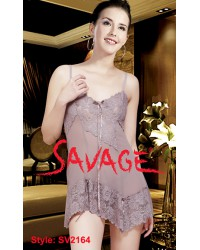SV2164 Tight Fitting Nightie with Lace Cup