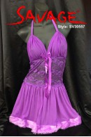 Full Lace Waist Chemise with Halter Neck