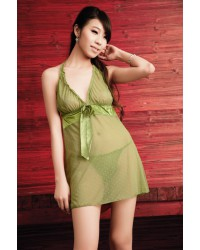 Halter Chemise With Bows