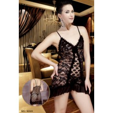 Fishnet with Lace Chemise