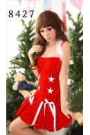 Velvet Hooded Christmas Dress