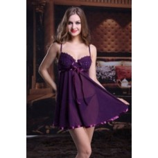SV985 Embroidered Trim Padded Cup Babydoll