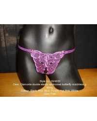 Embroidered Diamonte Crotchless G