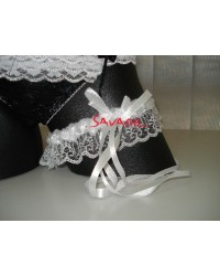 SV4950 Sexy Satin and Lace Garter with Ribbon